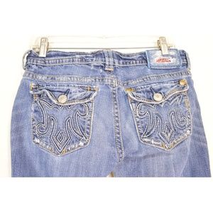 MEK Jeans - MEK jeans 31 x 32.5 flap back pockets distressed r